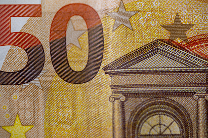 detail of the 50 euro banknote