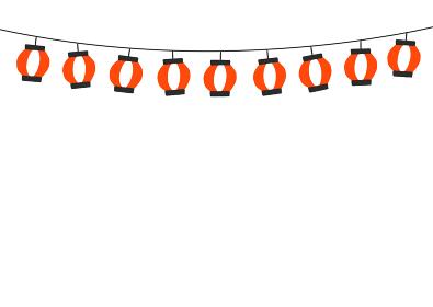【背景素材】夏 秋 祭り提灯イラスト
