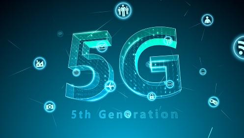 5G テクノロジー アイコン ネットワーク シンボル インターネット デジタル 3D イラスト