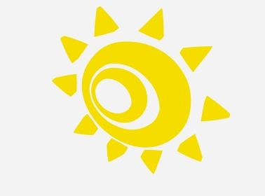 下を向く不気味な黄色の太陽