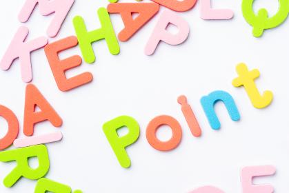 Point アルファベット 白背景