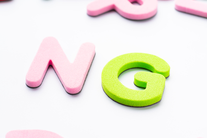 NG アルファベット 白背景