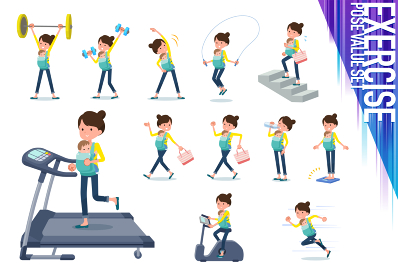 flat type Mother and baby_exercise