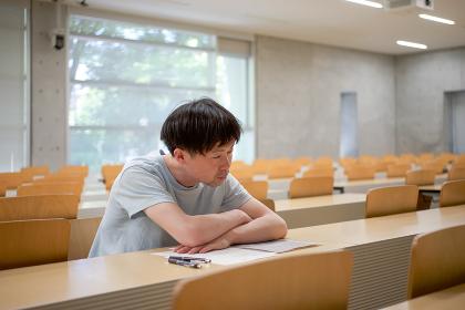 授業風景(居眠り)