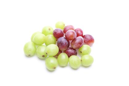 白バックの葡萄