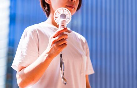 ハンディ扇風機 ハンディファン マスク無し 【 夏 の イメージ 】