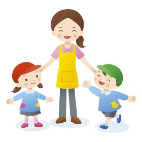 先生と幼稚園児