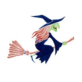 魔女 ハロウィン ハロウィーン モンスター 水彩 イラスト