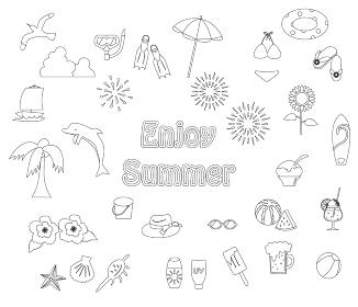 夏のアイテム アイコンセット