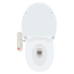 イラスト素材 厠 便所 トイレ 操作パネル ウオッシュレット 洋式トイレ ベクター