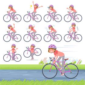 flat type Straight bangs Sportswear_road bike