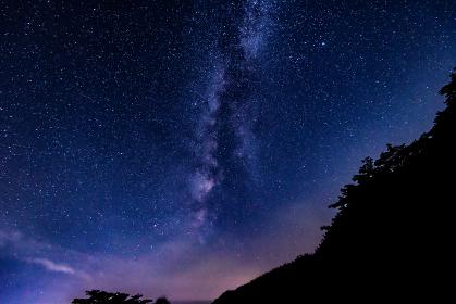 天の川のある星空