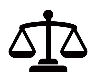 天秤・秤・平等・裁判所・法律・公平・バランス アイコン
