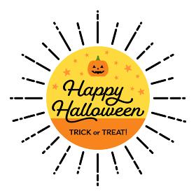 ハロウィンのかわいい素材 - かぼちゃとHappy Halloween・trick or treat