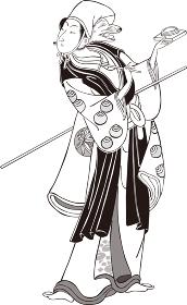 浮世絵 歌舞伎役者 その32 白黒