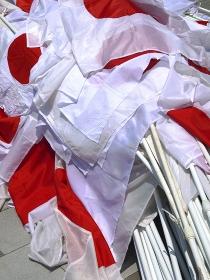 たくさんの日章旗