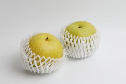 フルーツキャップを被せた二十世紀梨