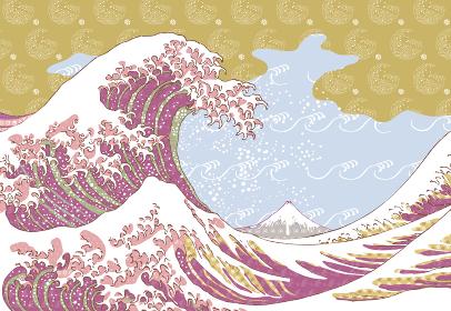 神奈川沖浪裏 カラフルバージョン その1