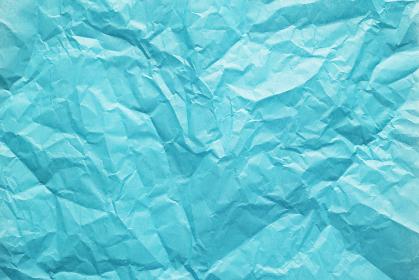 しわくちゃな青色のお花紙