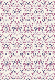 和風和柄背景ベクターデータ|シームレス伝統模様 青海波(せいがいは)横上下帯|紫系