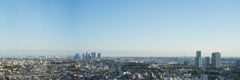 高層ビルよりの新宿副都心パノラマ