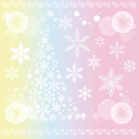 冬 雪の結晶 かわいい イラスト素材セット