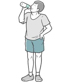水分補給 中年男性