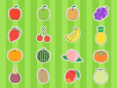 フルーツのイラストセット
