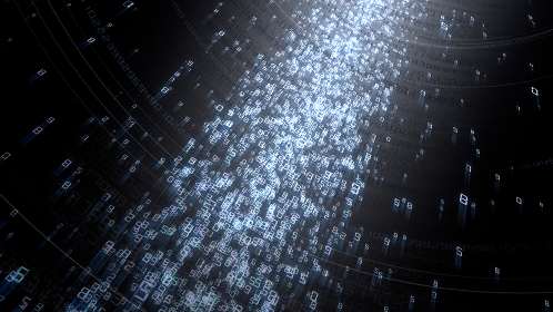 クラウド ビッグデータ デジタル ネットワーク AI 人工知能 テクノロジー 3D イラスト 背景