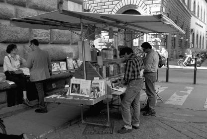 フェレンツェの露天の本屋