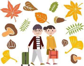 秋の紅葉 夫婦
