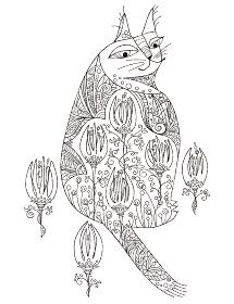 塗り絵ネコ