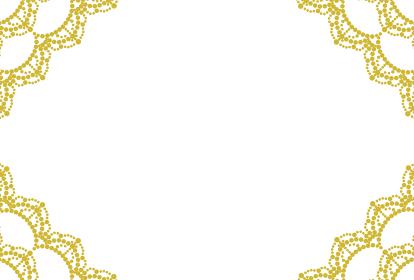 金色のレースのフレームイラスト