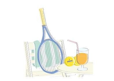 テニス休憩