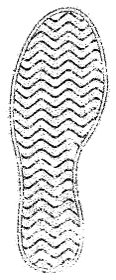 足あと・足跡・靴跡・靴の裏 白黒イラスト(擦れ)