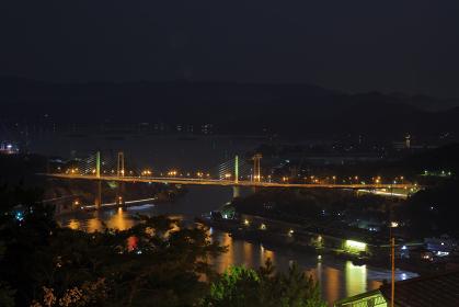 尾道 尾道大橋 夜景( 千光寺公園展望台から )