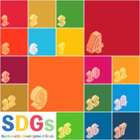 SDGs、開発目標の指定色ポスター