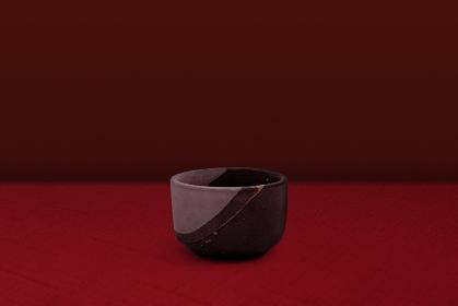 骨董品のイメージ 金継ぎの茶碗 3284