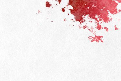 白い和紙に赤色の模様が有る和風の背景画像