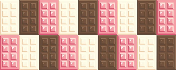 チョコレートの背景素材 ホワイトチョコ ミルクチョコ ルビーチョコ