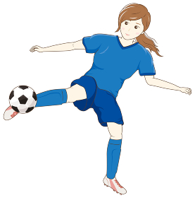 サッカーをする女性04