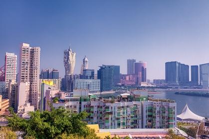 中華人民共和国・マカオ特別行政区 市街地の風景