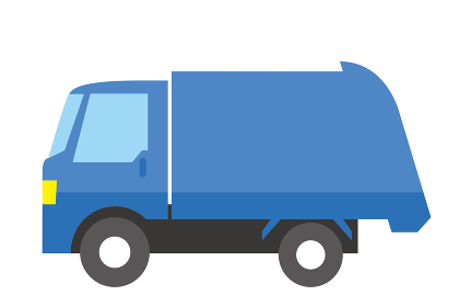 シンプルな自動車のアイコン_イラスト_働く車ゴミ収集車トラックCar icon