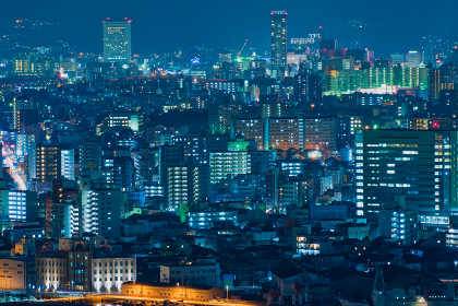 高塔山公園から見る都市夜景