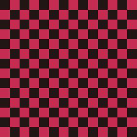 市松模様 黒×ピンク M