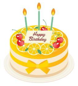 オレンジのお誕生日ムースケーキ