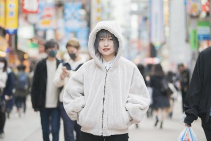 渋谷センター街でのポートレート