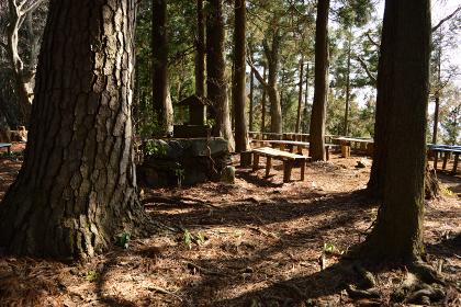 小仏城山・登山路のベンチ