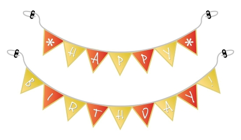 お誕生日のハッピーバースデーのパーティーフラッグ