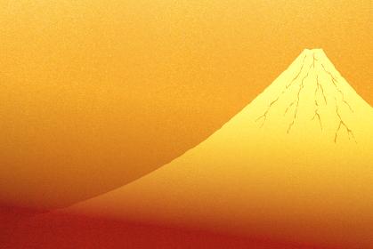 金色に輝く富士山のイラスト
